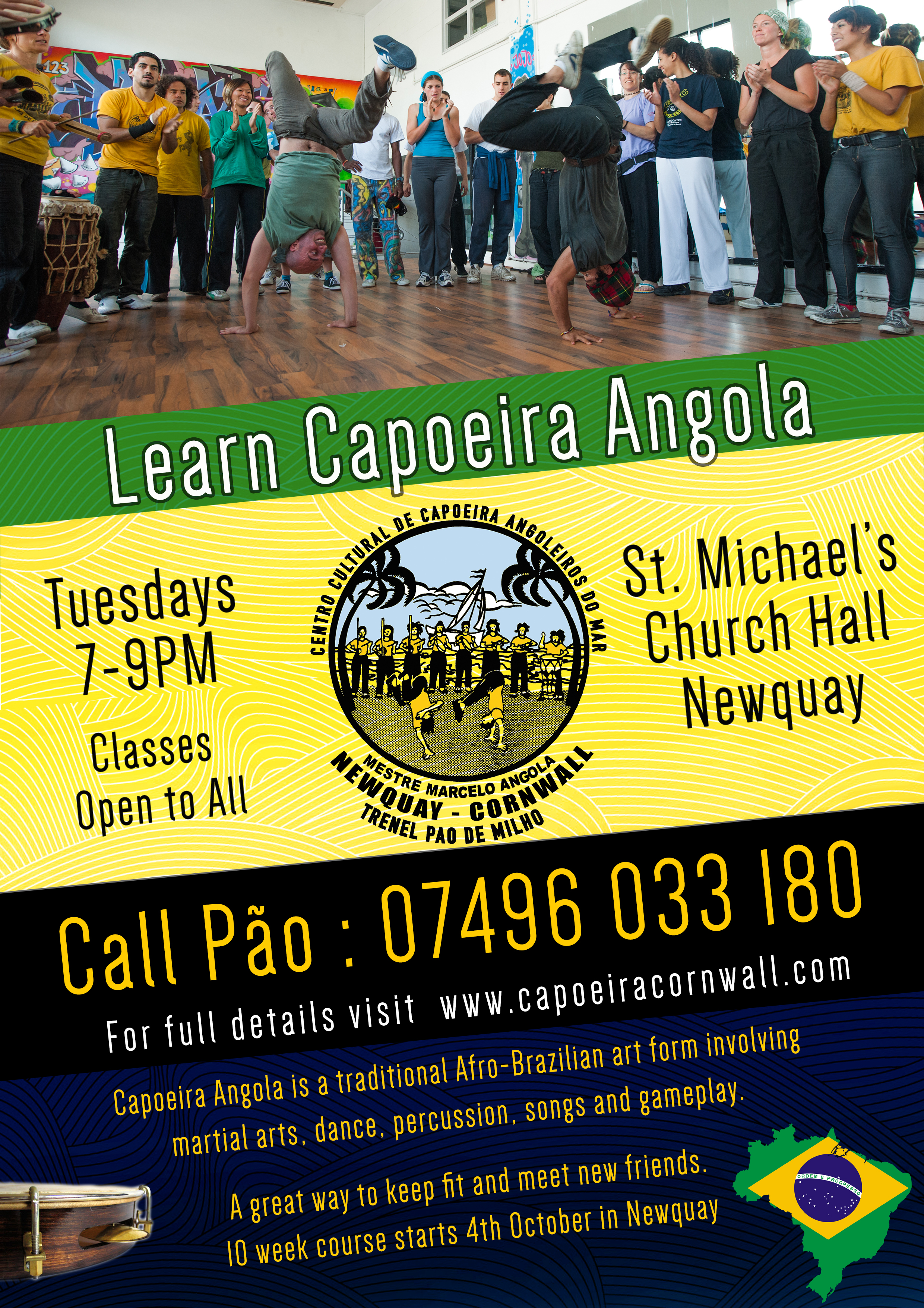10 week Capoeira Course Newquay (Oct 2016)